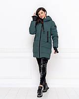 Женская зимняя куртка со вшитыми митенками, фото 1