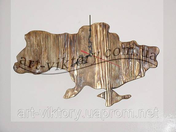 Часы - карта Украины из дерева, фото 2