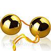 Вагінальні кульки зі зміщеним центром ваги Basic Loveballs Gold від Orion