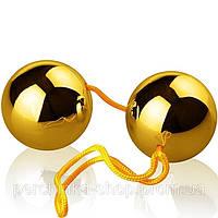 Вагінальні кульки зі зміщеним центром ваги Basic Loveballs Gold від Orion, фото 1