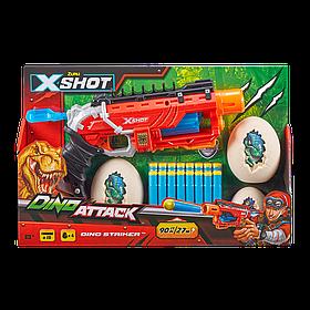 Скорострільний бластер Dino striker X-Shot (2 середніх яйця, 2 маленьких яйця, 16 патронів) (4860)
