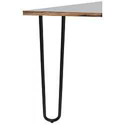 Опора мебельная трубчатая двойная Kapsan KMA-0015 h=710 мм Черная (KMA-0015-0710-B13)