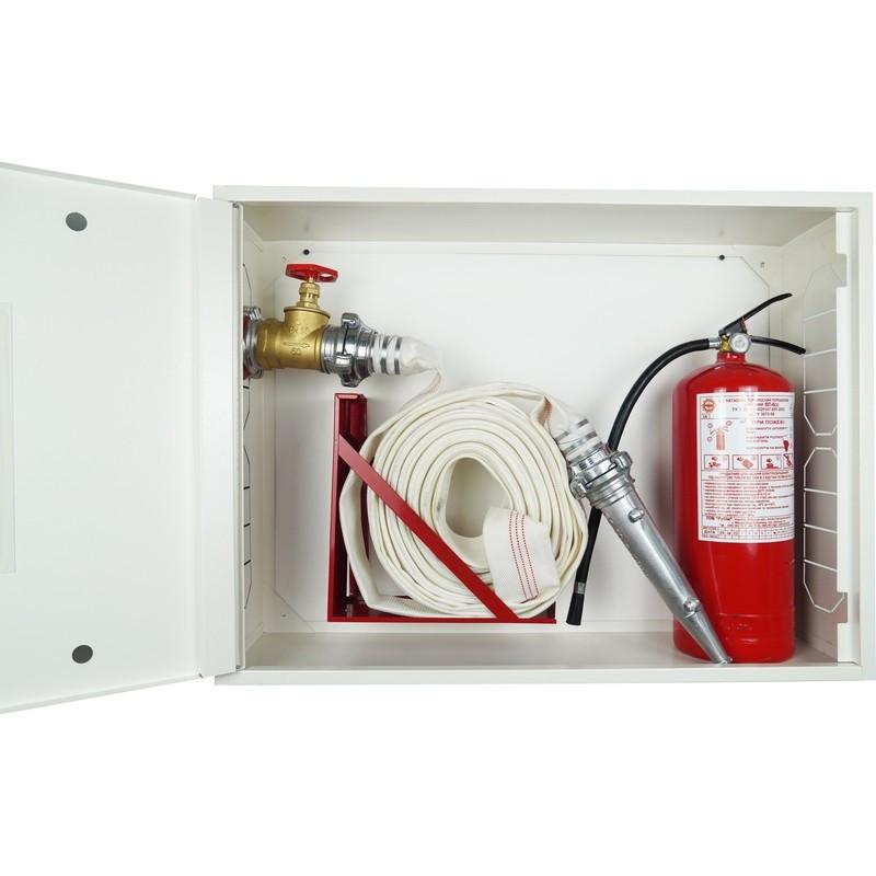 Кран-комплект ЕС-51-1-РС-50 (Шкаф пожарный ШП-80/60-НС Белый) + 1 огнетушитель ВП-5