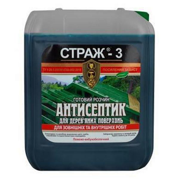 Антисептическая биозащита для древесины Страж-3, 5 л