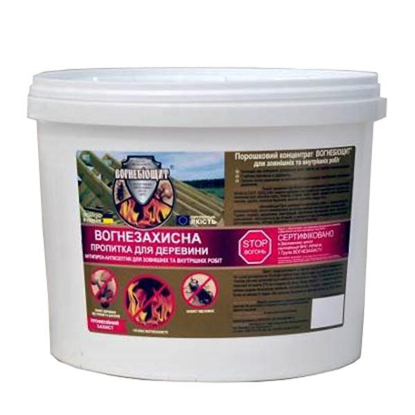 Огнебиощит для древесины сухой концентрат огнебиозащиты 10 кг