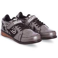 Штангетки-кросівки для важкої атлетики пауерліфтингу гирьового спорту ZELART PU Сірі (OB-6319) 39