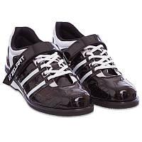 Штангетки-кросівки для пауерліфтингу важкої атлетики гирьового спорту ZELART PU Чорні (OB-1265)39