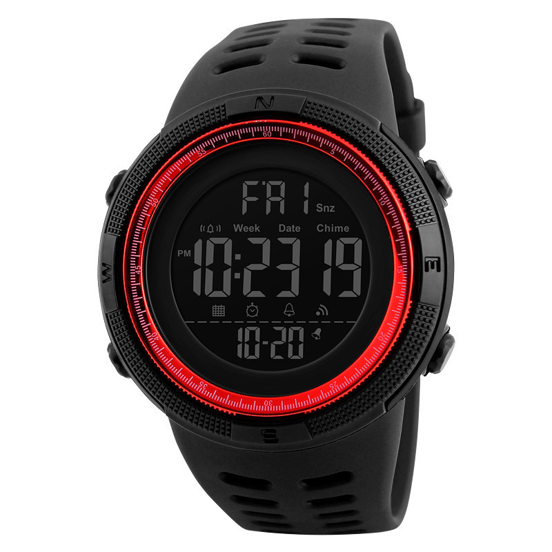 • Оригинал! Skmei Amigo 1251 Red  | Cпортивные мужские часы !