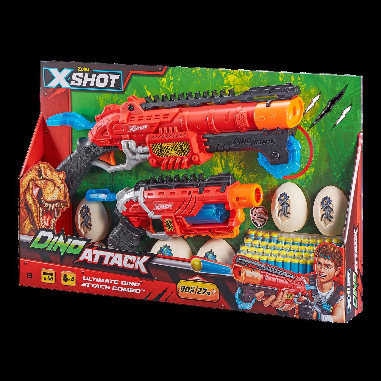 Набір бластеров X-Shot dino combo pack (2 середніх яйця, 4 маленьких яйця, 48 патронів) (4859)