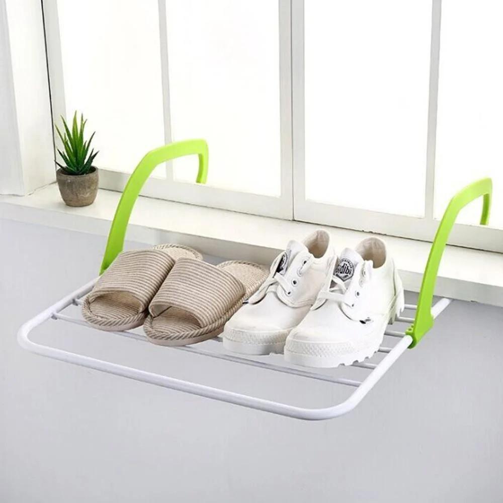 Распродажа! Сушилка для белья навесная 55х34 см. зеленая, сушка для одягу на балкон, батарею