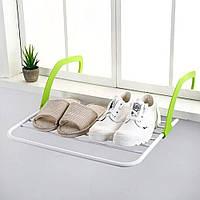 Распродажа! Сушилка для белья навесная 55х34 см. зеленая, сушка для одягу на балкон, батарею , фото 1