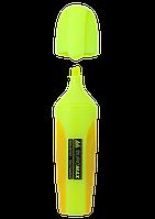 Маркер текстовий NEON 2-4 мм з гум вставками жовтий, Buromax (12)