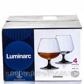 Набір коньячних чарок Luminarc Domino 410 мл 4шт J3030, фото 2