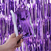 Фотозона шторка з фольги 1*2 м фіолетова