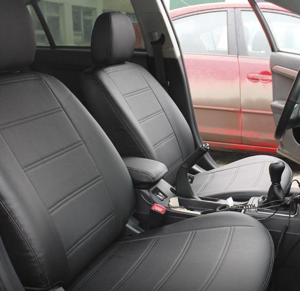 Чехлы на сиденья Форд Коннект (Ford Connect) (универсальные, экокожа, отдельный подголовник)