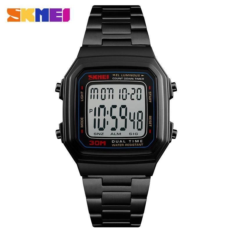 Мужские часы Skmei 1337 S black / silver