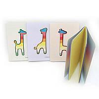 Блокнот А6 64арк Жираф кольорові сторінки J. Otten