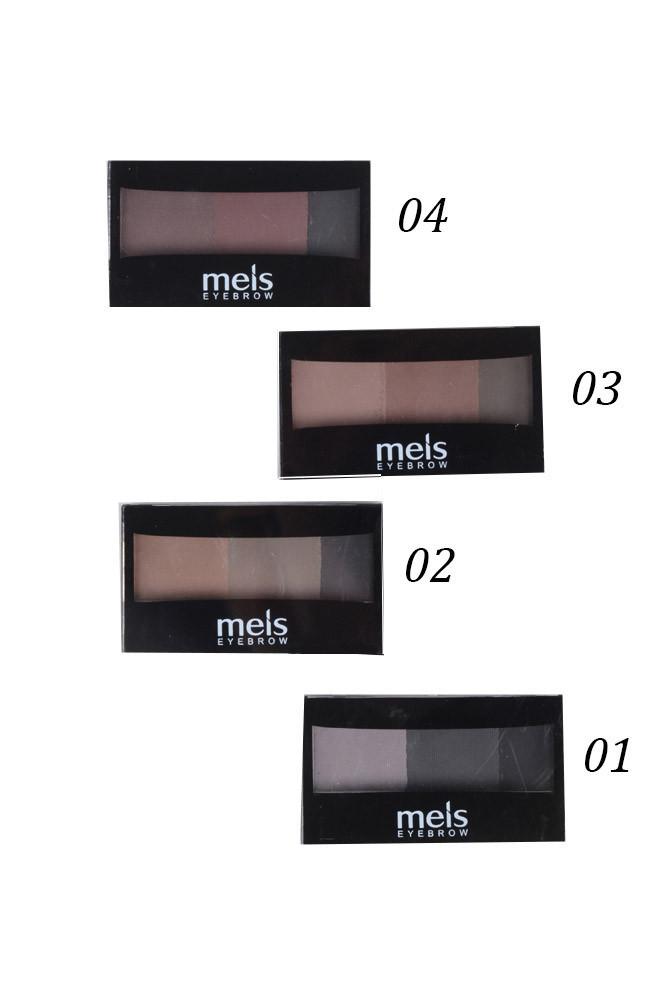 Тени для бровей Meis Eyebrow 3-цветные арт. 0-146 (палитра 4 цвета)
