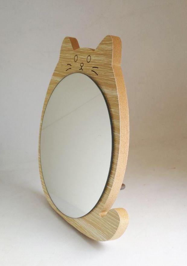 Зеркало для макияжа Cosmetic Mirror R-1078, деревянное в ассортименте