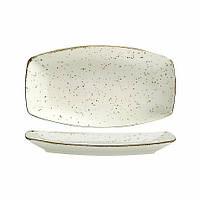 Тарелка белая фарфоровая овальная Kutahya ATLANTIS 19x11,4 см.
