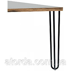 Опора мебельная трубчатая тройная Kapsan KMA-0016 h=710 мм Черная (KMA-0016-0710-B13)