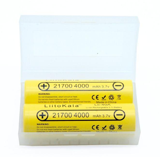 Акуммулятор Liitokala 21700 Lii-40A 4000 mAh высокотоковый