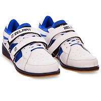 Штангетки-кросівки для пауерліфтингу важкої атлетики гирьового спорту ZELART PU Білі (OB-1266) 39
