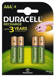 Акумулятор Duracell Recharge DC2400, AAA/(HR03), 750 mAh Ni-MH, блістер 4шт