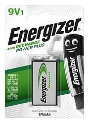 Акумулятор Energizer Recharge Power Plus, 6F22/9V, 175 mAh, LSD Ni-MH, блістер 1шт