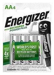 Акумулятор Energizer Recharge Power Plus, AA/(HR6), 2000 mAh, LSD Ni-MH, блістер 4шт