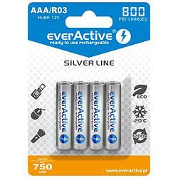 Акумулятор everActive EVHRL03-800, AAA/(R03), 800 mAh, LSD Ni-MH, блістер 4шт