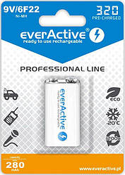Аккумулятор everActive EVHRL22-320, 6LR61 (крона), 8.4V, 320 mAh, LSD Ni-MH