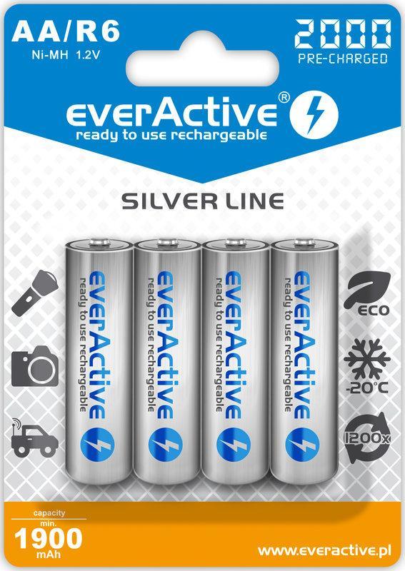 Аккумулятор everActive EVHRL6-2000, AA/(HR6), 2000mAh, LSD Ni-MH, блистер 4шт
