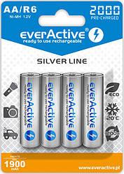 Акумулятор everActive EVHRL6-2000, AA/(HR6), 2000mAh, LSD Ni-MH, блістер 4шт