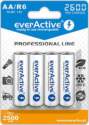 Акумулятор everActive EVHRL6-2600, AA/(HR6), 2600mAh, LSD Ni-MH, блістер 4шт
