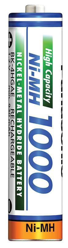 Аккумулятор Panasonic BK-4HGAE/BF1, AAA/(HR03), 1000 mAh, Ni-MH, OEM