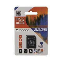 Карта Памяти Mibrand MicroSDHC 32gb 10 Class & Adapter