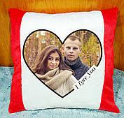 Подушка с Вашим фото. Плюшевая декоративная подушка с фотопечатью на подарок День Св. Валентина