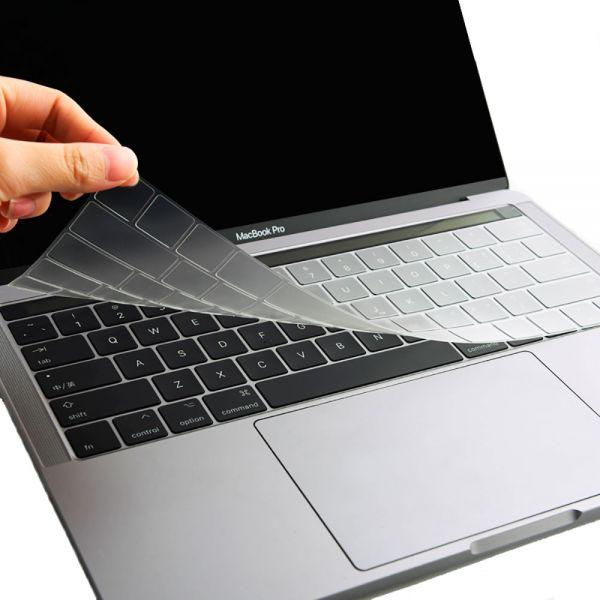Силиконовая накладка прозрачная на клавиатуру для MacBook Pro 13 / 15 Touch Bar
