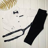 Костюм святковий для хлопчика сорочка і штани Розміри 80 92 98, фото 1