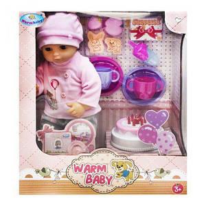 """Пупс """"Warm Baby. День рождения"""", в костюмчике WZJ033A-1/2"""