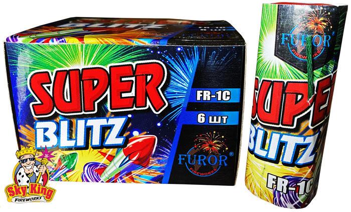 Ракета Super blitz Блиц 6 шт . фейерверки и пиротехника