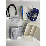 Пульсоксиметр Fingertip Pulse Oximeter | Пульсометр на палець + батарейки в подарунок, фото 8