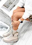 Берцы беж кожаные с кошельком 7558-28, фото 4