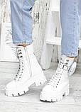 Берцы белые кожаные с кошельком 7559-28, фото 2