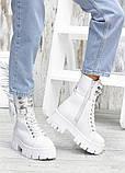 Берцы белые кожаные с кошельком 7559-28, фото 3