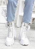 Берцы белые кожаные с кошельком 7559-28, фото 4