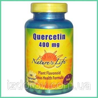 Nature's Life, Кверцетин, 400 мг, 100 растительных капсул