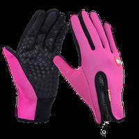 Сенсорные перчатки теплые розовые размер L унисекс