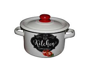 """Каструля емальована циліндрична ТМ IDILIA """"Kitchen Tomat"""" 3,0л/2 (675129)"""